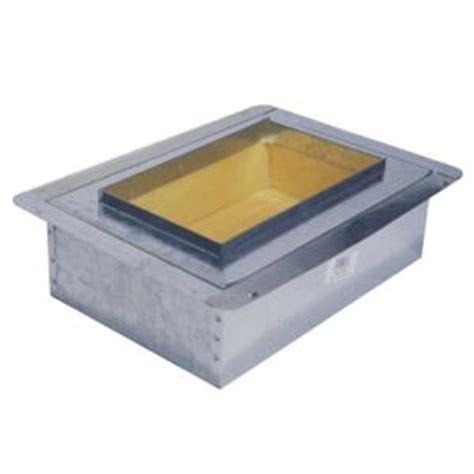 8 in x 4 in duct board insulated register box r6