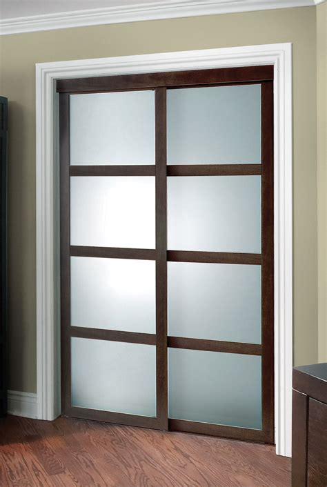 Sliding Closet Doors Frosted Glass Fusion Plus Closet Door Colonial Elegance