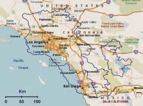 armenia overlaid southern california map mappery
