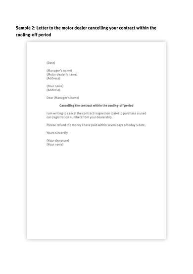 contract cancellation letter samples ms word