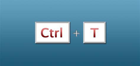 ctrl t shortcut