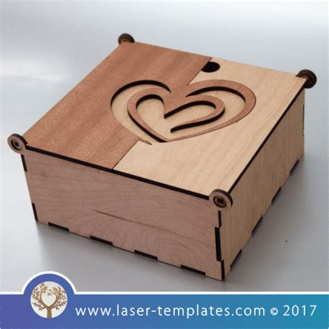 Laser Cut Wooden Boxes Template Collection Laser Ready Templates Laser Cut Box With Lid Template