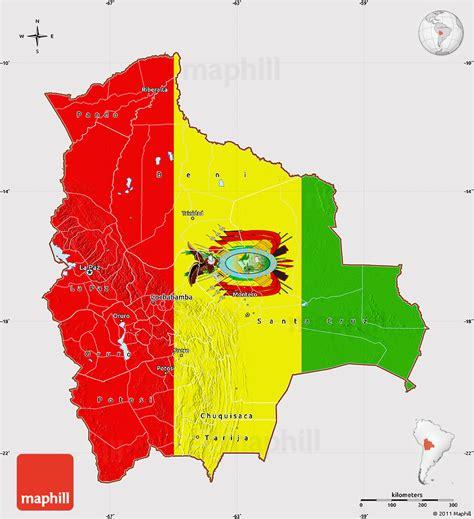 map of bolivia flag map of bolivia flag rotated