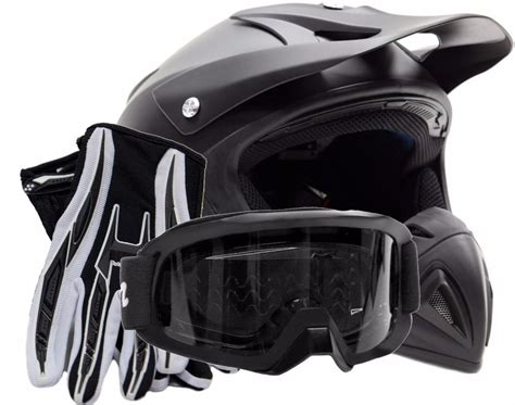motocross helmets and goggles motocross helmet gloves goggles combo matte black