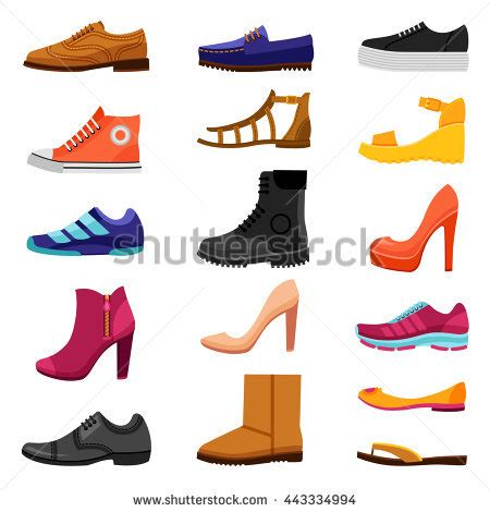 different types of flat shoes flat shoes stock images royalty free images vectors