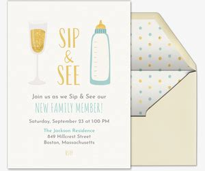 Sip And See Free Online Invitations Sip And See Invitation Templates
