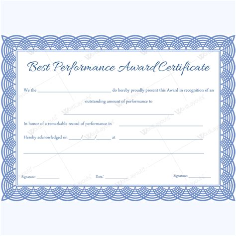 89 award certificates for business and school events