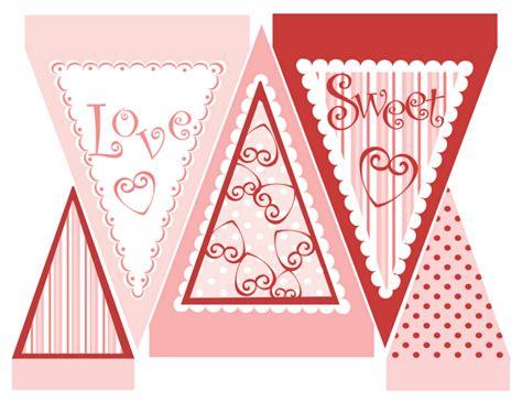 Printable Valentine Banner | valentine free printables design dazzle