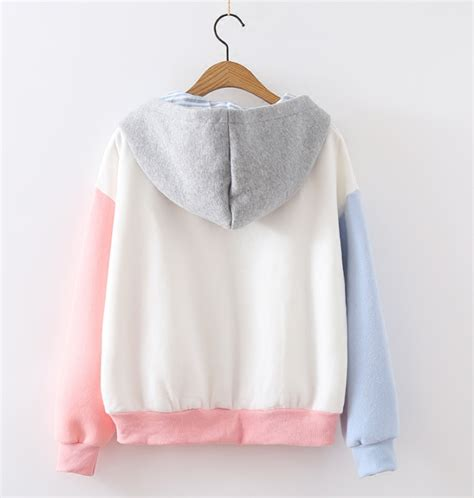 Sweater Make Secret aesthetics quot make secret hello quot pastel color hoodie