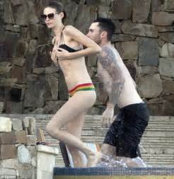 Kicking off the new year in style adam and behati looked perfectly
