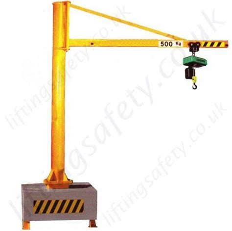 swing jib cranes h section portable swing jib crane overbraced design