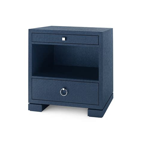 Blue Side Table Frances 2 Drawer Side Table Navy Blue Bungalow 5