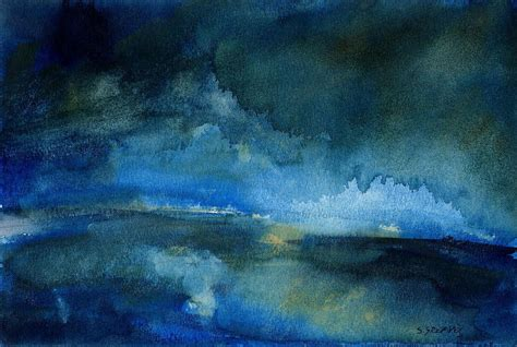 blue paintings ryedale blue watercolour landscape painting steve greaves photorealism paintings