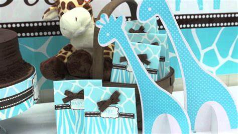 Blue Safari Baby Shower Decorations by Blue Giraffe Baby Shower Favors Blue Safari Boy S Baby