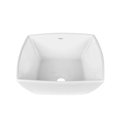 ronbow square vessel sink decolav classically redefined vessel sink in white 1446