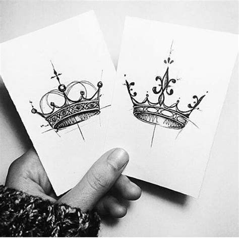 king and queen crown tattoo king and ideas