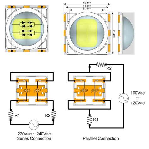led resistor for 230v 240v hv ac high power led circuit diagram world