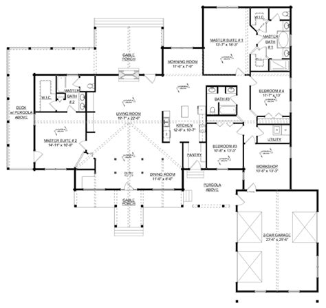 Craftsman Style House Floor Plans Craftsman House Floor Plans