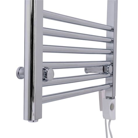 bathroom electric towel rail heaters bathroom chrome electric ladder heated towel rail warmer thermostatic radiator