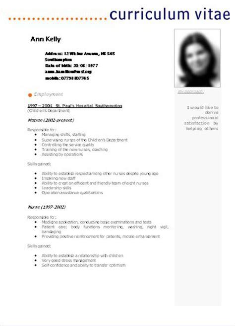 Modelo De Curriculum Vitae Basico Ejemplo Modelo De Curriculum Vitae Para Completar Basico Modelos De Curriculum Vitae En Carolina