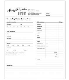 Recipes For Costco Cakes Order Form 2012 With Recipesuscom Youll Chicago Foods Pinterest Dessert Order Form Template