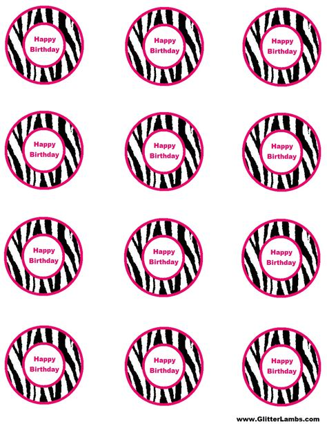free printable birthday cards zebra print glitter lambs pink zebra food label cards and free