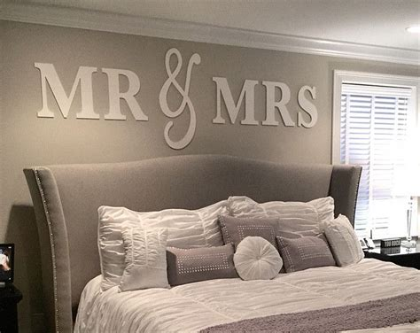 Mr And Mrs Home Decor Mr Mrs Wall Sign Above Bed Decor Mr And Mrs Sign For Headboard Home Decor Bedroom