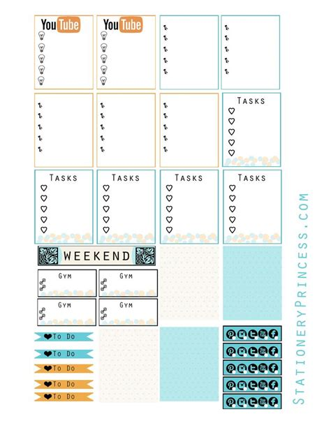 free printable planner supplies 17 best images about erin condren on pinterest life