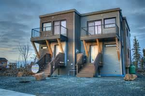 Duplex House Plans Canada Smplymod Prefab Duplex Harnesses Energy Efficient Design In Canada S Cold Northwest Territories