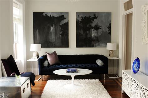 navy couches living room navy blue sofa living room contemporary with abstract art
