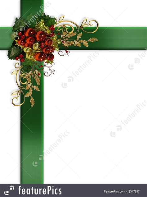 templates christmas border elegant ribbons baubles