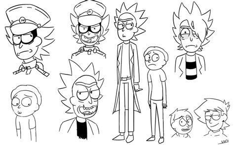 rick n morty style doodles by voroxzii on deviantart