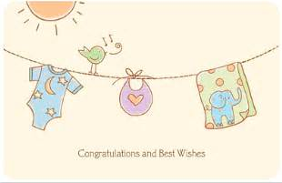 lucky baby greeting card congratulations on baby