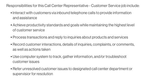 how to write a customer service job description that