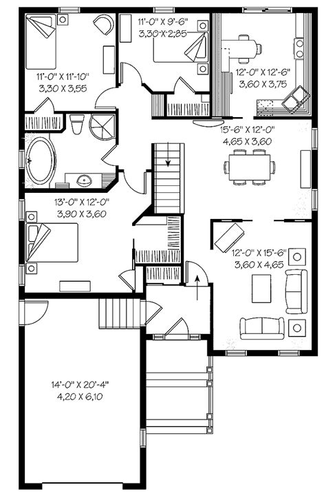 Small Lot Smart Plan Hwbdo13582 Cottage House Plan From Builderhouseplans Com