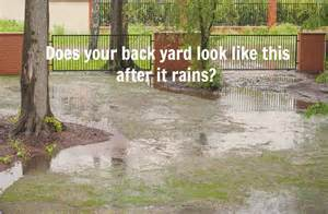 home maintenance tip solve poor yard drainage issues atlantic foundation repair