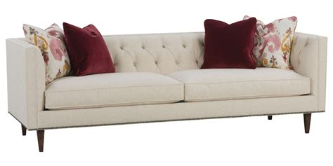 traditional fabric sofas fabric tufted tight back sofa with nail head trim club