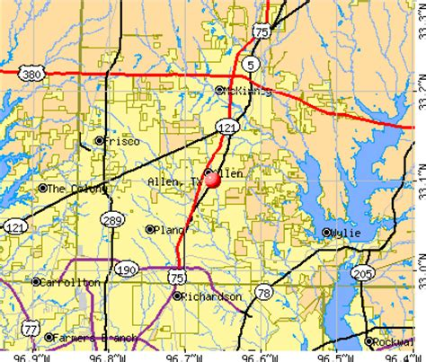map of allen texas allen texas tx profile population maps real estate averages homes statistics
