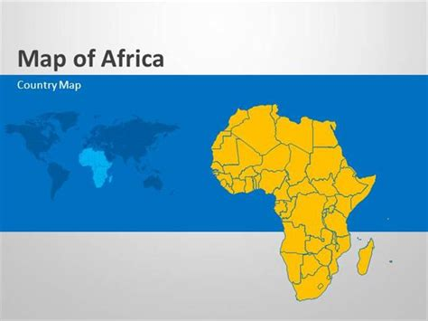 Africa Editable Powerpoint Map Slides Authorstream Africa Powerpoint Template