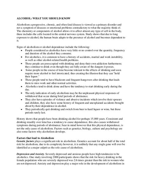 Alcoholism Essay by What You Should Sle Essay