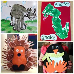 Holiday Arts And Crafts For Kids - fun zoo animal handprint crafts for kids crafty morning