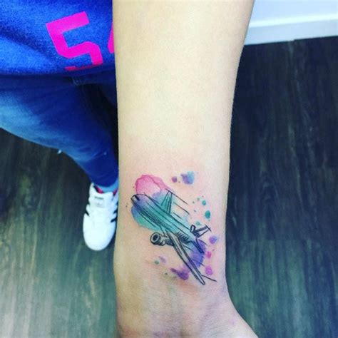 watercolor travel tattoos best 25 plane ideas on airplane