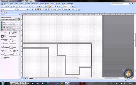 como criar uma planta de casas ms visio aula 1 2 como criar uma planta baixa de layout de escrit 243 www professorramos