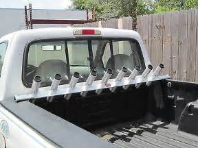 truck bed rail fishing rod holder all aluminum for small