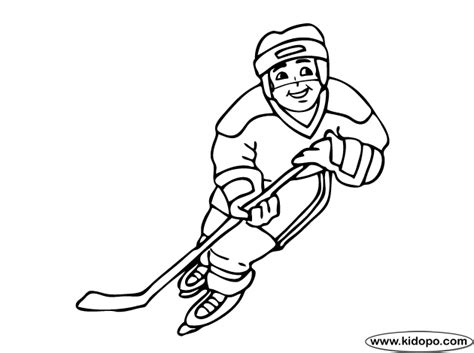 coloring pages of hockey players hockey player coloring page