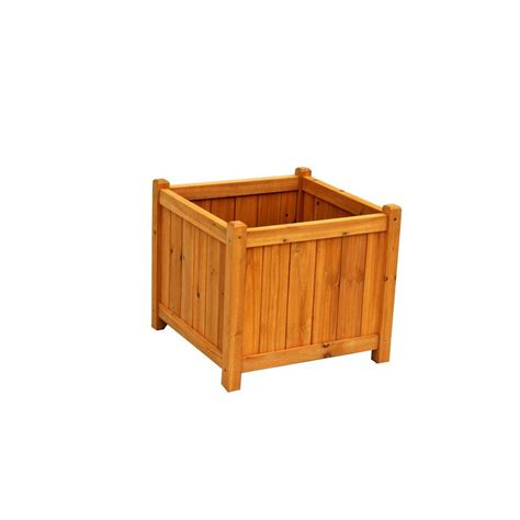 Leisure Season 18 In Square Cedar Planter Box Pb20011 Cedar Planter Box