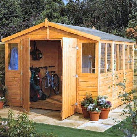 rowlinson workshop apex garden shed