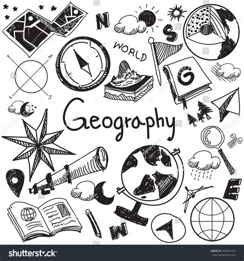 doodle sign in geography geology education subject handwriting doodle