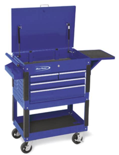 Blue Point 4 Drawer Tool Cart roll cart locking flip top 4 locking drawers