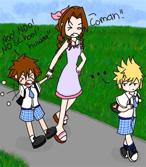 kingdom hearts diaper baby sora hates school by janelvalle on deviantart